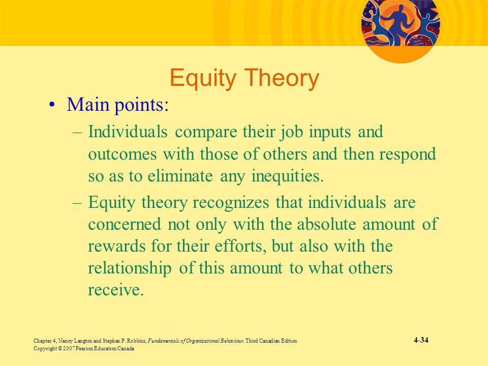 Chapter 4, Nancy Langton and Stephen P. Robbins, Fundamentals of Organizational Behaviour, Third Canadian Edition 4-34 Copyright © 2007 Pearson Educat