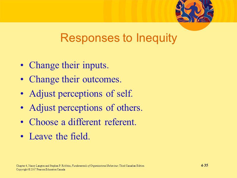 Chapter 4, Nancy Langton and Stephen P. Robbins, Fundamentals of Organizational Behaviour, Third Canadian Edition 4-35 Copyright © 2007 Pearson Educat