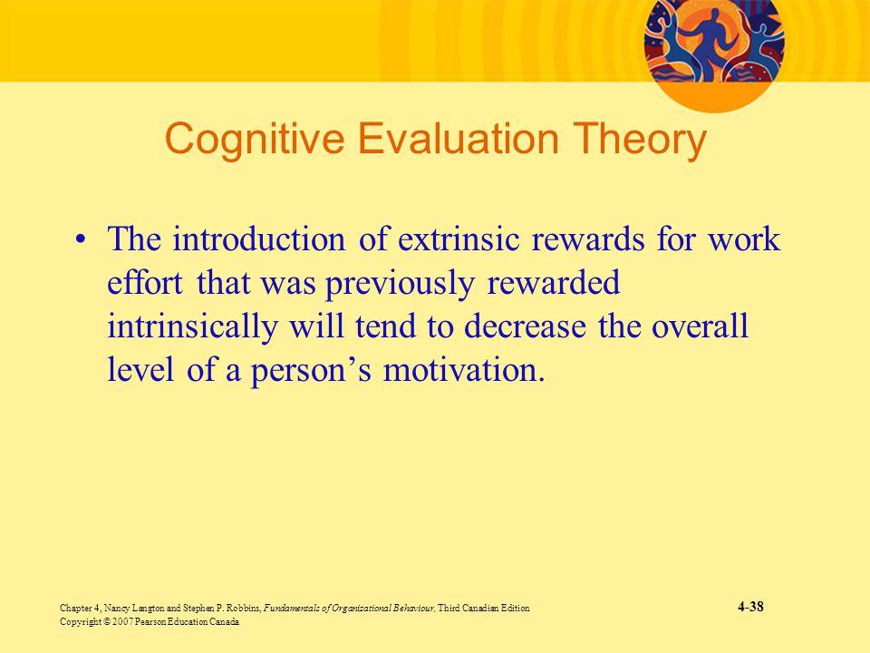 Chapter 4, Nancy Langton and Stephen P. Robbins, Fundamentals of Organizational Behaviour, Third Canadian Edition 4-38 Copyright © 2007 Pearson Educat