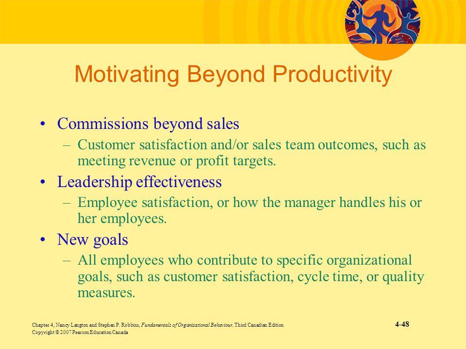 Chapter 4, Nancy Langton and Stephen P. Robbins, Fundamentals of Organizational Behaviour, Third Canadian Edition 4-48 Copyright © 2007 Pearson Educat