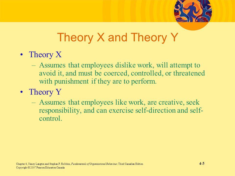 Chapter 4, Nancy Langton and Stephen P. Robbins, Fundamentals of Organizational Behaviour, Third Canadian Edition 4-5 Copyright © 2007 Pearson Educati