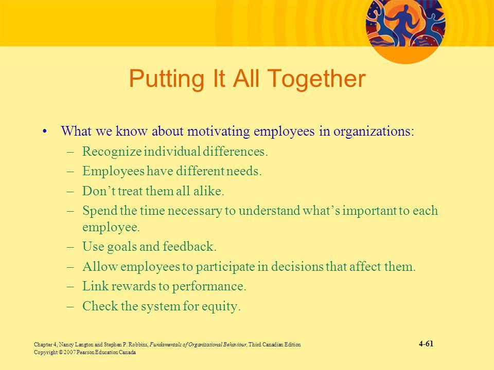 Chapter 4, Nancy Langton and Stephen P. Robbins, Fundamentals of Organizational Behaviour, Third Canadian Edition 4-61 Copyright © 2007 Pearson Educat