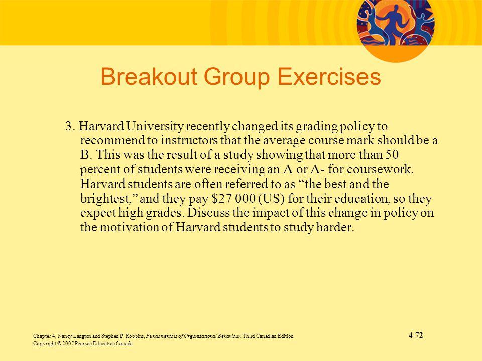 Chapter 4, Nancy Langton and Stephen P. Robbins, Fundamentals of Organizational Behaviour, Third Canadian Edition 4-72 Copyright © 2007 Pearson Educat