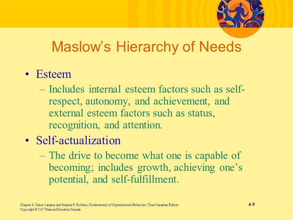 Chapter 4, Nancy Langton and Stephen P. Robbins, Fundamentals of Organizational Behaviour, Third Canadian Edition 4-9 Copyright © 2007 Pearson Educati