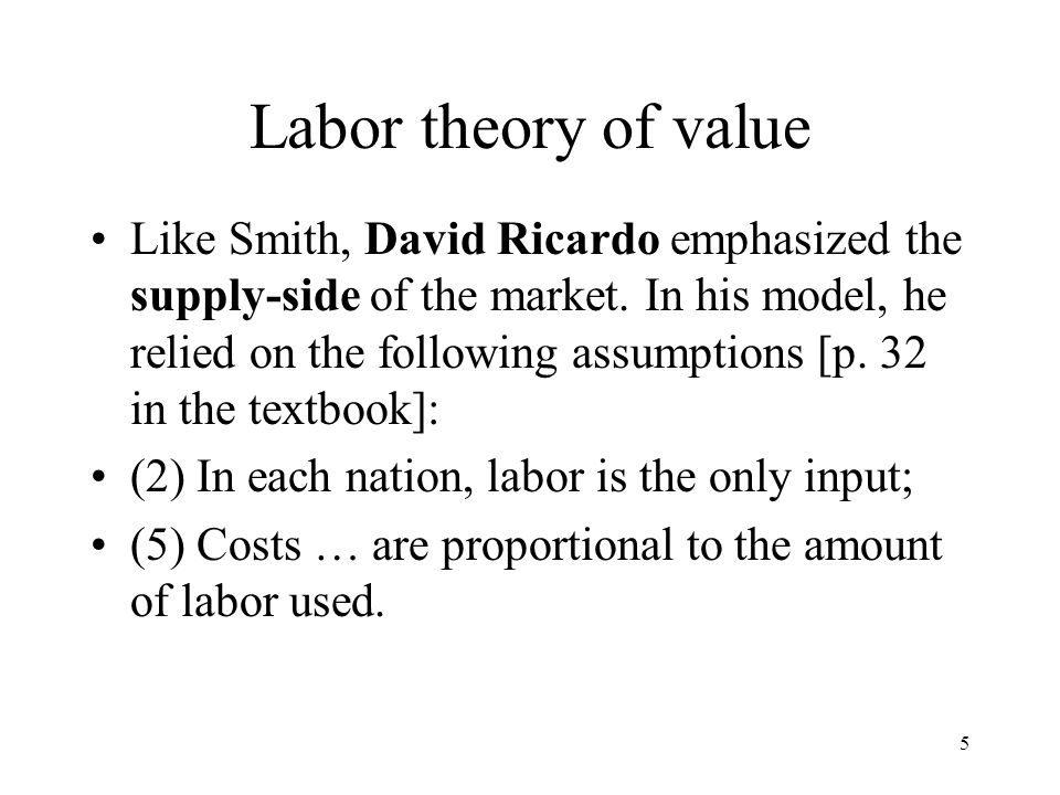 6 In-class exercise However, Smith's and Ricardo's theories fail to explain international trade when technology is identical in both countries, that is, production functions and PPFs are the same in both countries.
