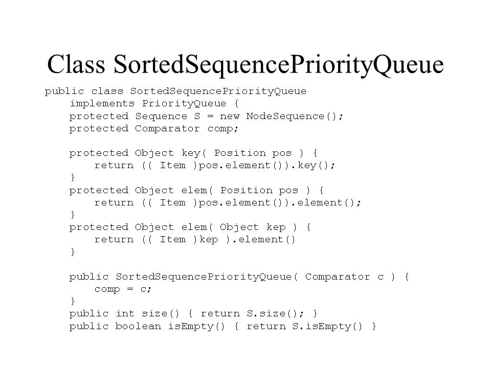 Class SortedSequencePriorityQueue