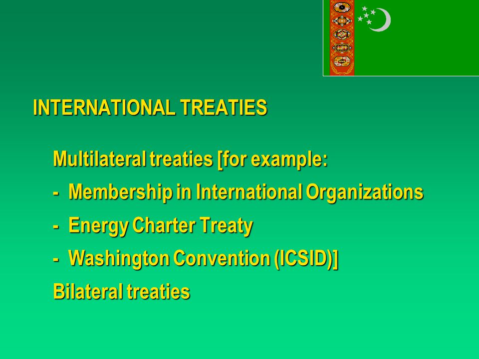 ENERGY CHARTER TREATY - National Treatment or Most Favored Nation Treatment - Compensation in case of Expropriation - Repatriation of Capital and Profits in Hard Currency - Observance by Local Authorities - International Dispute Resolution