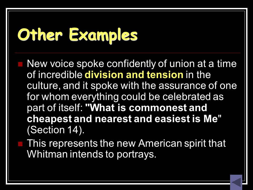 Other Examples New voice spoke confidently of union at a time of incredible division and tension in the culture, and it spoke with the assurance of on