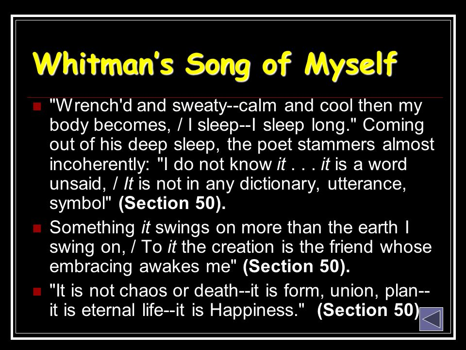 Whitman's Song of Myself