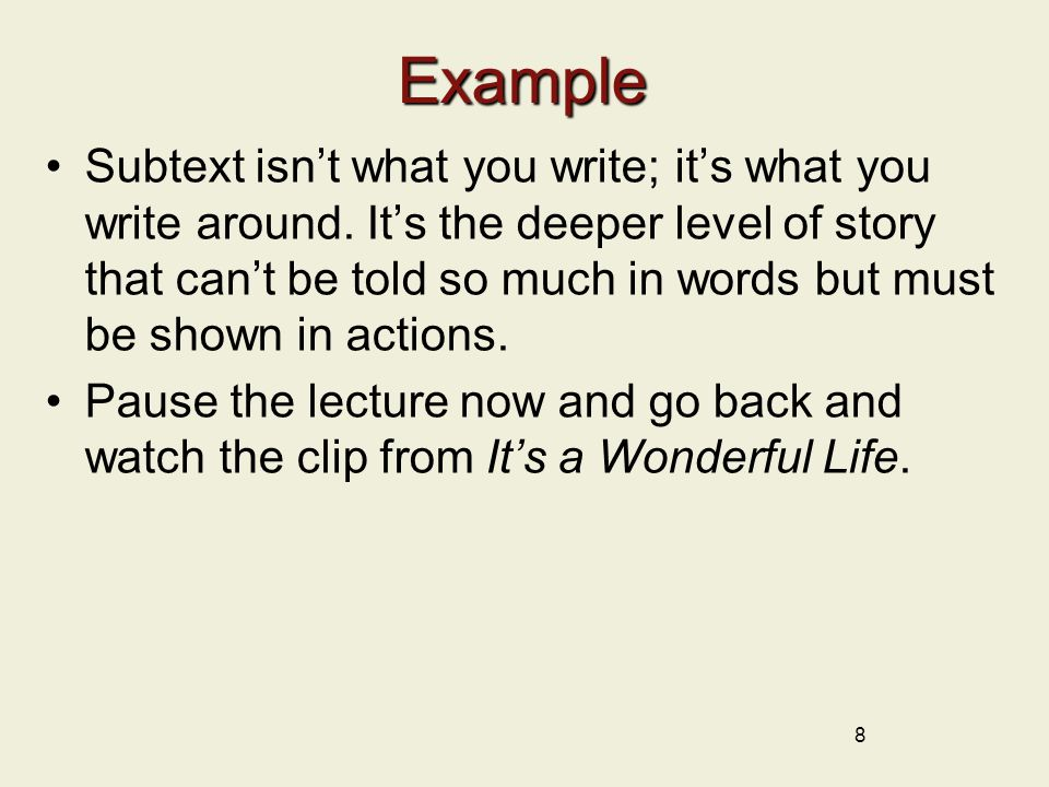 Example 9 It's a Wonderful Life (1946) Written by Frances Goodrich and Albert Hackett and Frank Capra With additional scenes by Jo Swerling.
