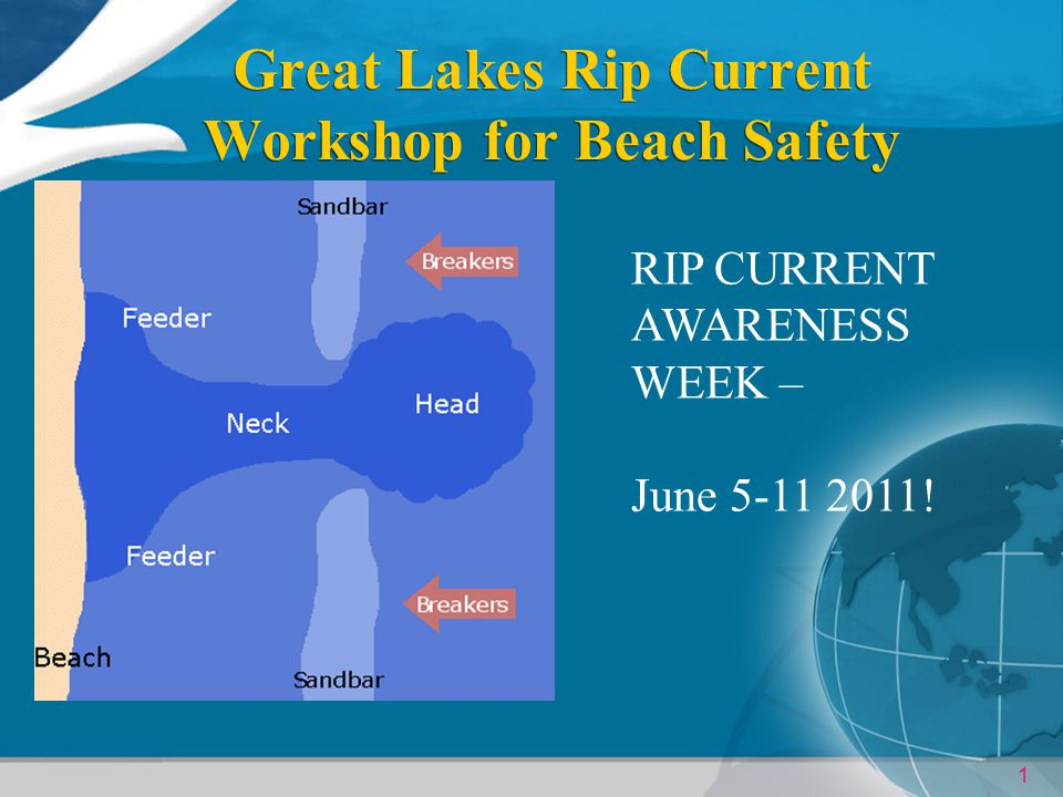 1 Great Lakes Rip Current Workshop for Beach Safety RIP CURRENT AWARENESS WEEK – June 5-11 2011!
