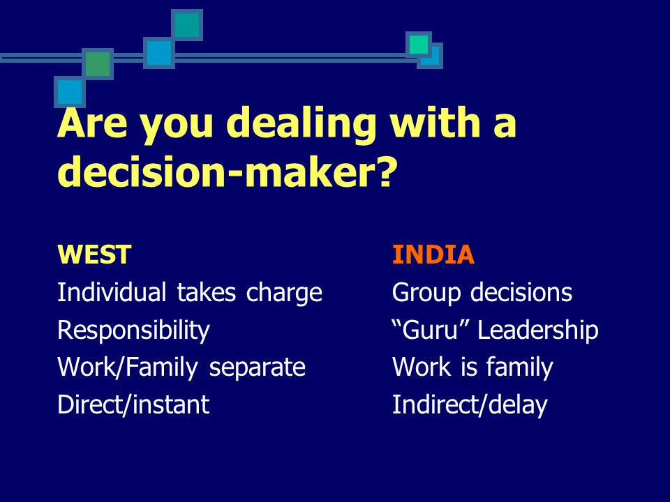 Are you dealing with a decision-maker.