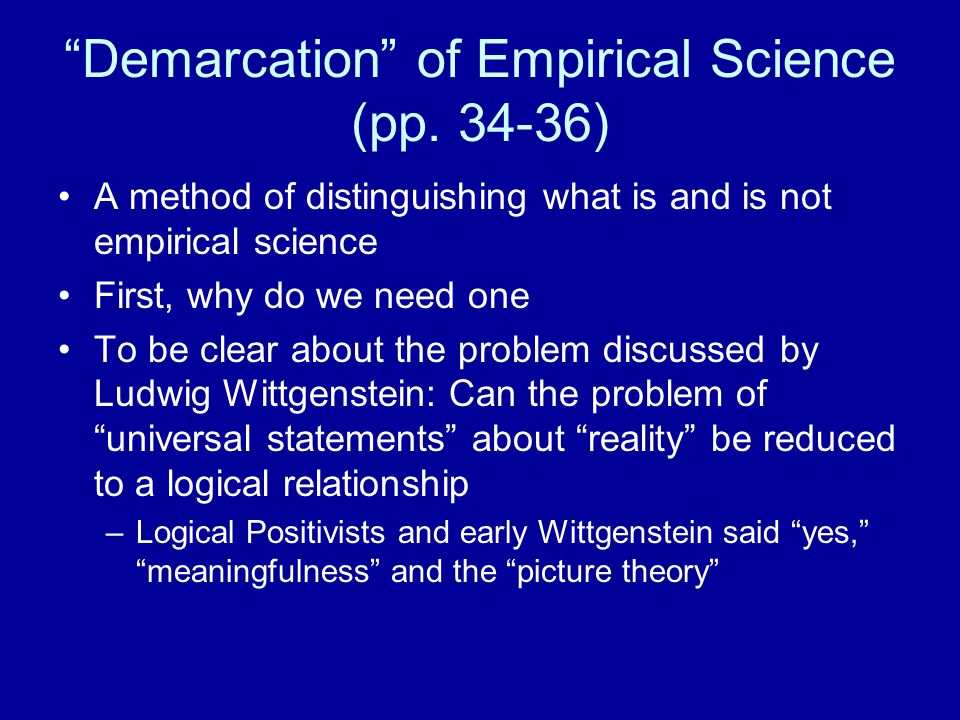 Demarcation of Empirical Science (pp.