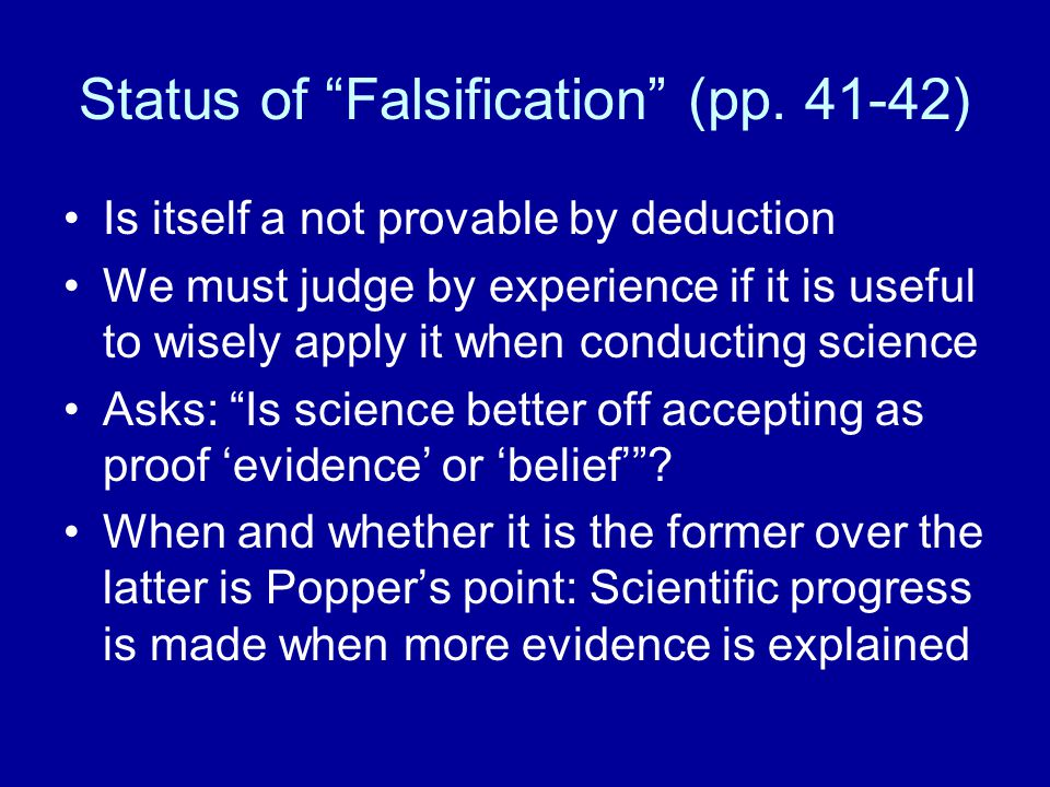 Status of Falsification (pp.
