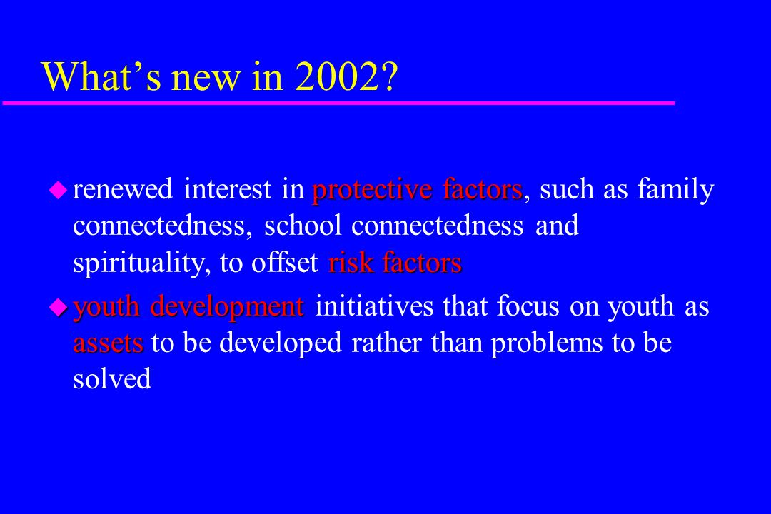What's new in 2002.