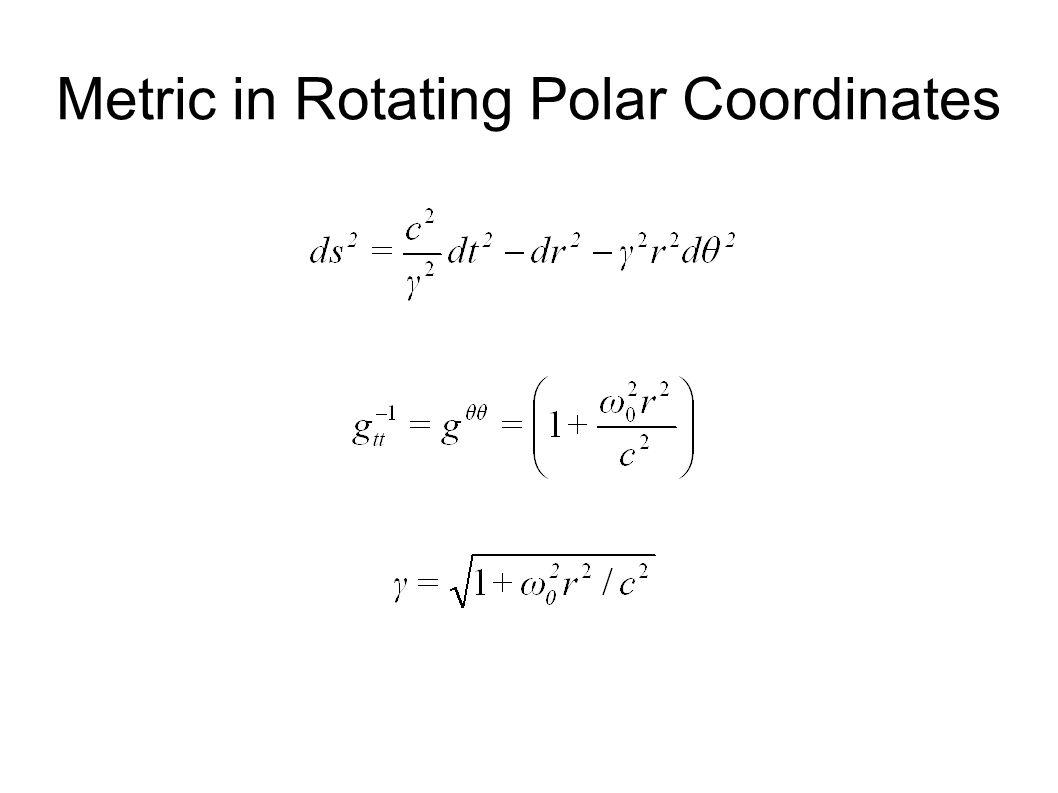 Metric in Rotating Polar Coordinates