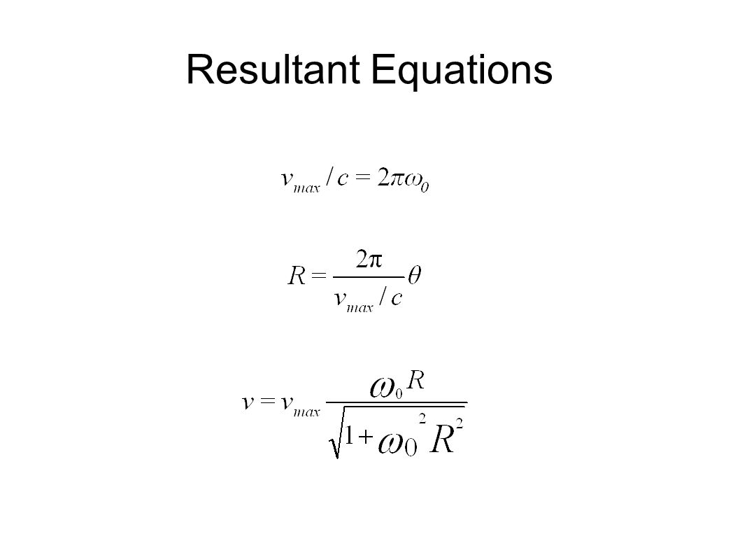 Resultant Equations