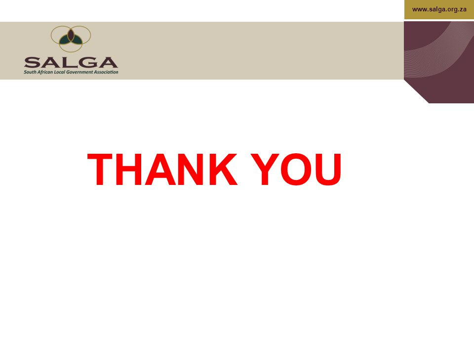 www.salga.org.za THANK YOU
