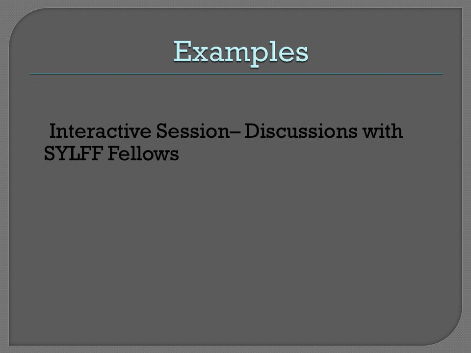 Interactive Session– Discussions with SYLFF Fellows