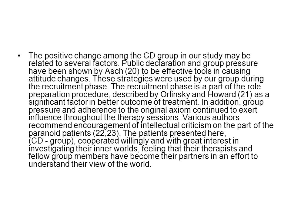 The positive change among the CD group in our study may be related to several factors.