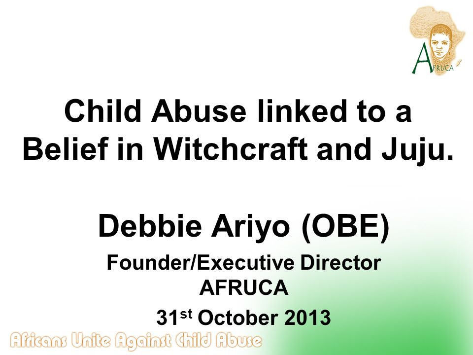Indicators of children at risk of being branded as witches or being possessed Children with disabilities (physical or learning disabilities) Children that have nightmares Children that sleepwalk Children that bed wet Albinos or children with vitiligo Children living away from home(private fostering) Children living with a step parent or relatives Children whose parents have been branded as witches Child with vitiligo
