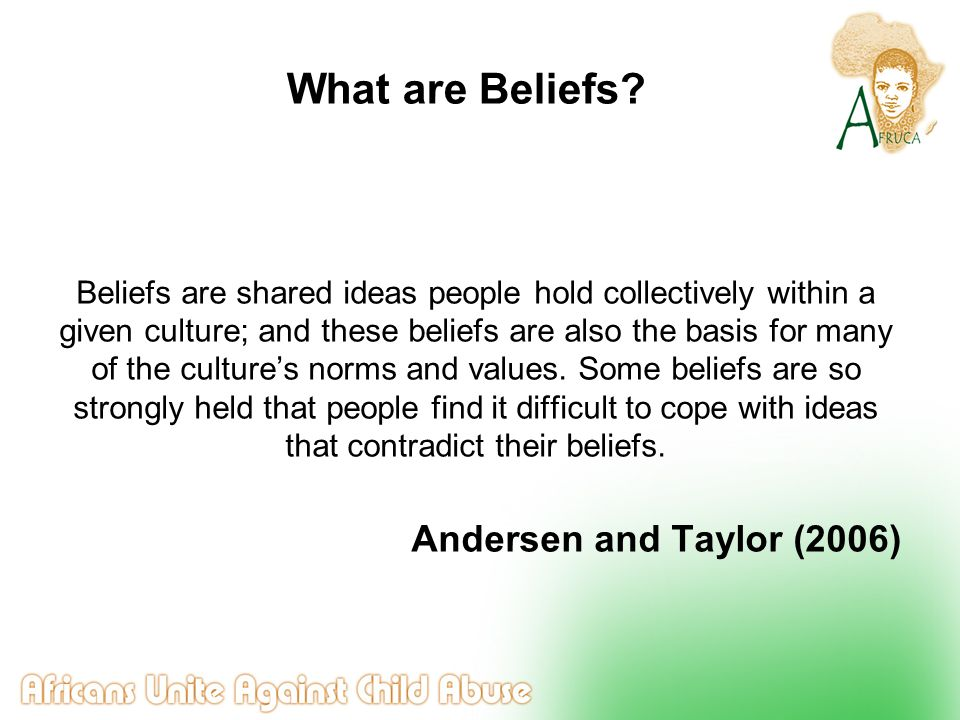 Belief Culture Behaviour Worldview Belief and Behaviour