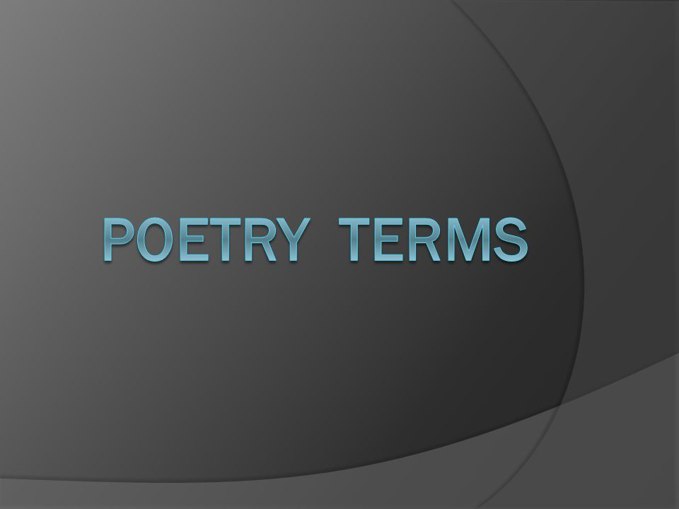 a small poem that displays the thoughts and feelings of the poet. Lyric Poetry
