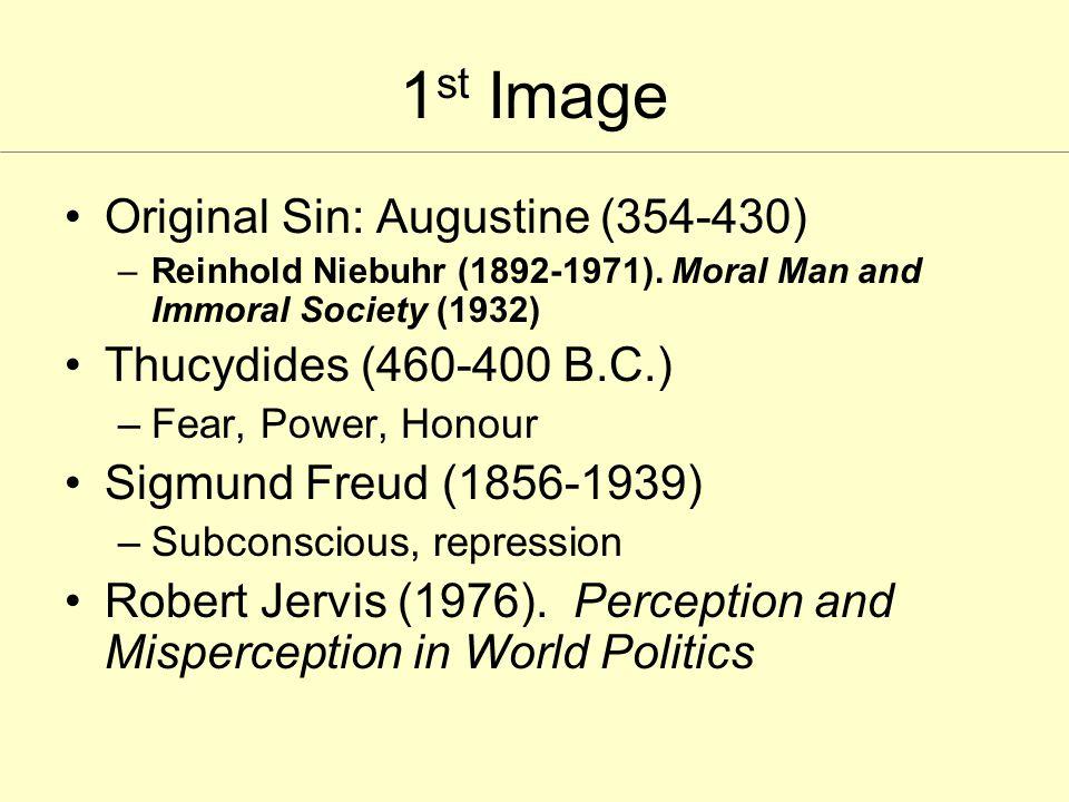 1 st Image Original Sin: Augustine (354-430) –Reinhold Niebuhr (1892-1971).