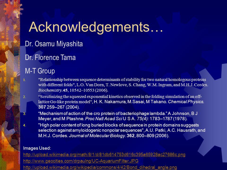 Acknowledgements… 1.