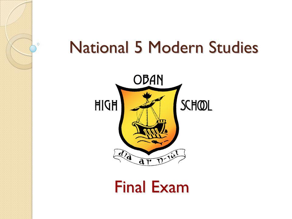 National 5 Modern Studies Final Exam