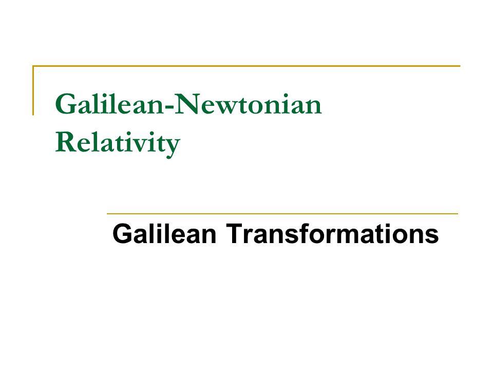 Galilean Transformations each point is transformed as follows: U S′S XAXA XBXB