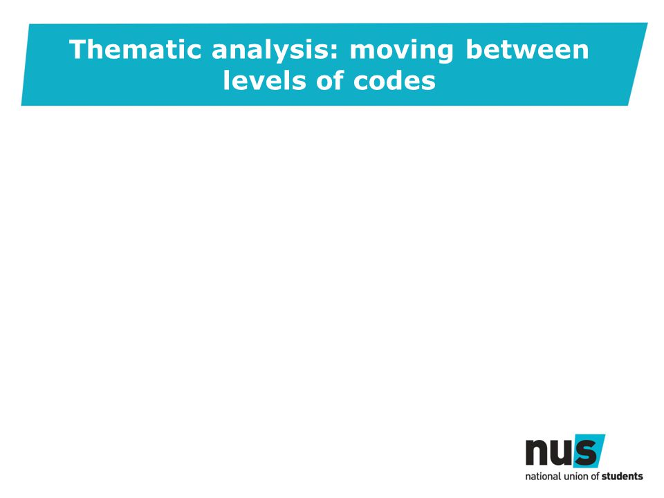 Thematic analysis: moving between levels of codes