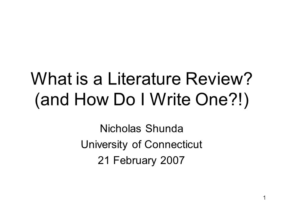 2 Today's Agenda What a literature review is and is not Purposes of a literature review Types of literature reviews in the social sciences Starting a literature review Organizing sources and notes before writing Writing a literature review Conclusion