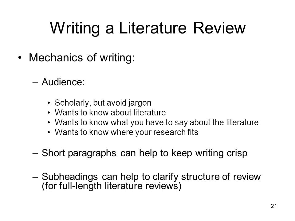 Dissertation Literture Review
