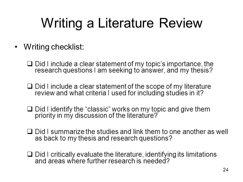 how to write a literature review sample When writing your literature review  the unsw library now has many theses available on-line, so it is easy to locate examples of current theses in your area of.