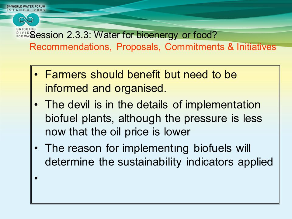 Farmers should benefit but need to be informed and organised.