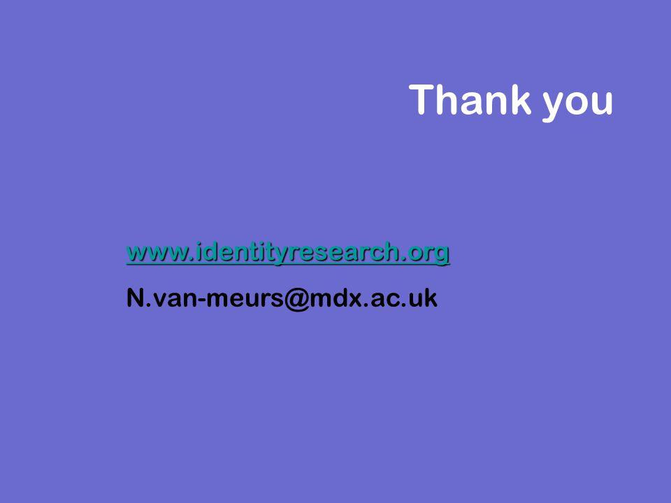 Thank you www.identityresearch.org N.van-meurs@mdx.ac.uk