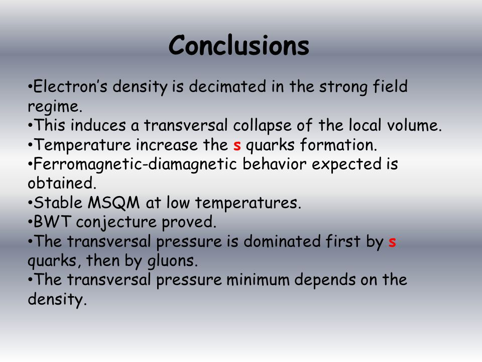 Electron's density is decimated in the strong field regime.