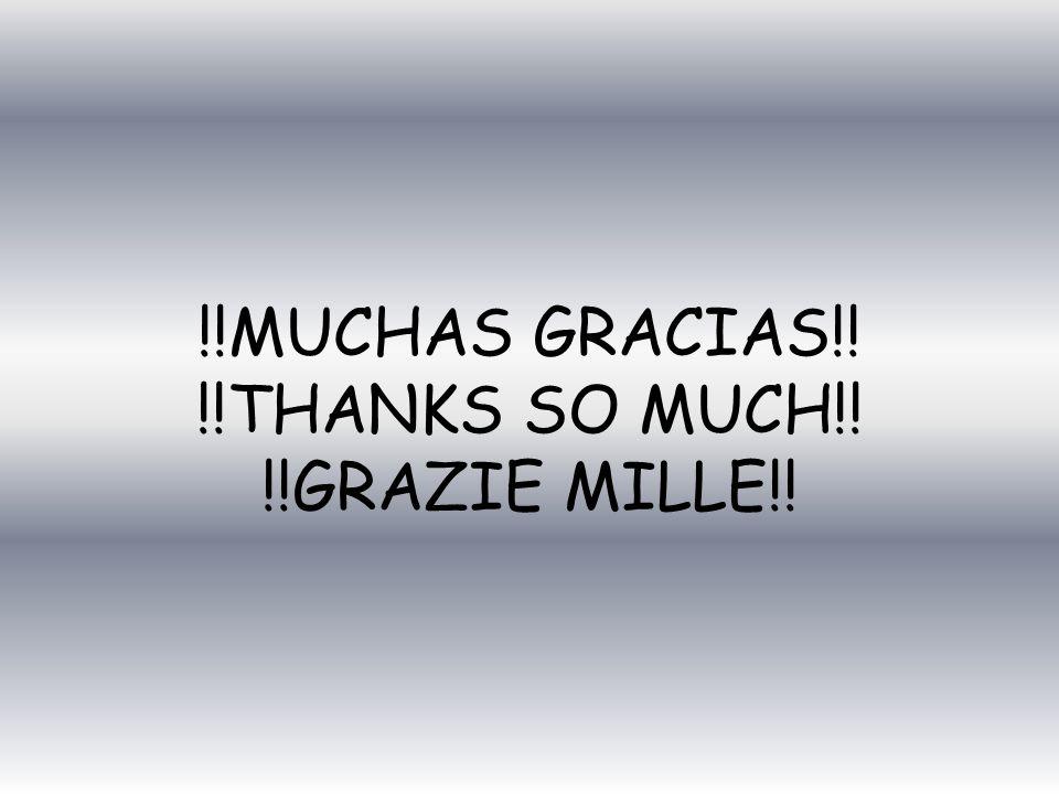 !!MUCHAS GRACIAS!! !!THANKS SO MUCH!! !!GRAZIE MILLE!!