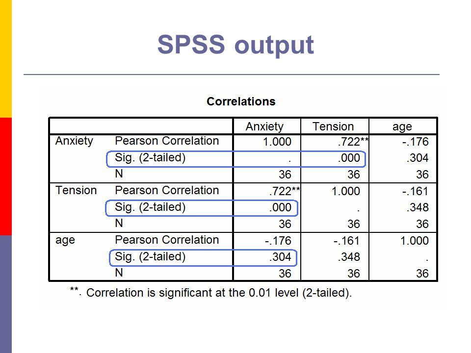 9 SPSS output