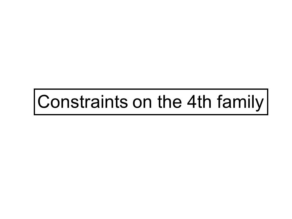 Constraints on the 4th family