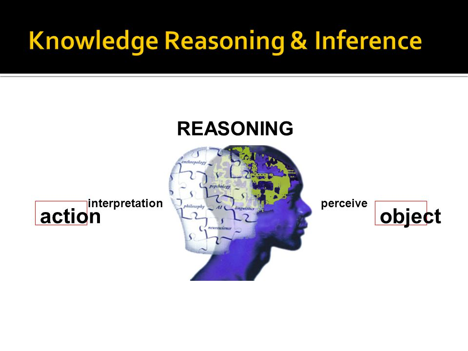  Definition  A process of applying knowledge to arrive at solution  Requires the ability to infer conclusions from the available facts  To reason is to think clearly and logically, to draw reasonable inference or conclusion from known or assumed facts  It works through interaction of rules and data