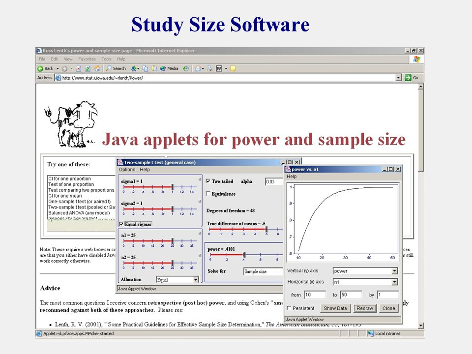 Study Size Software