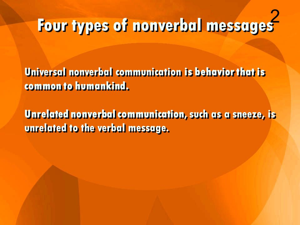 Theoretical writings and research classify nonverbal communication into seven main areas: 1.