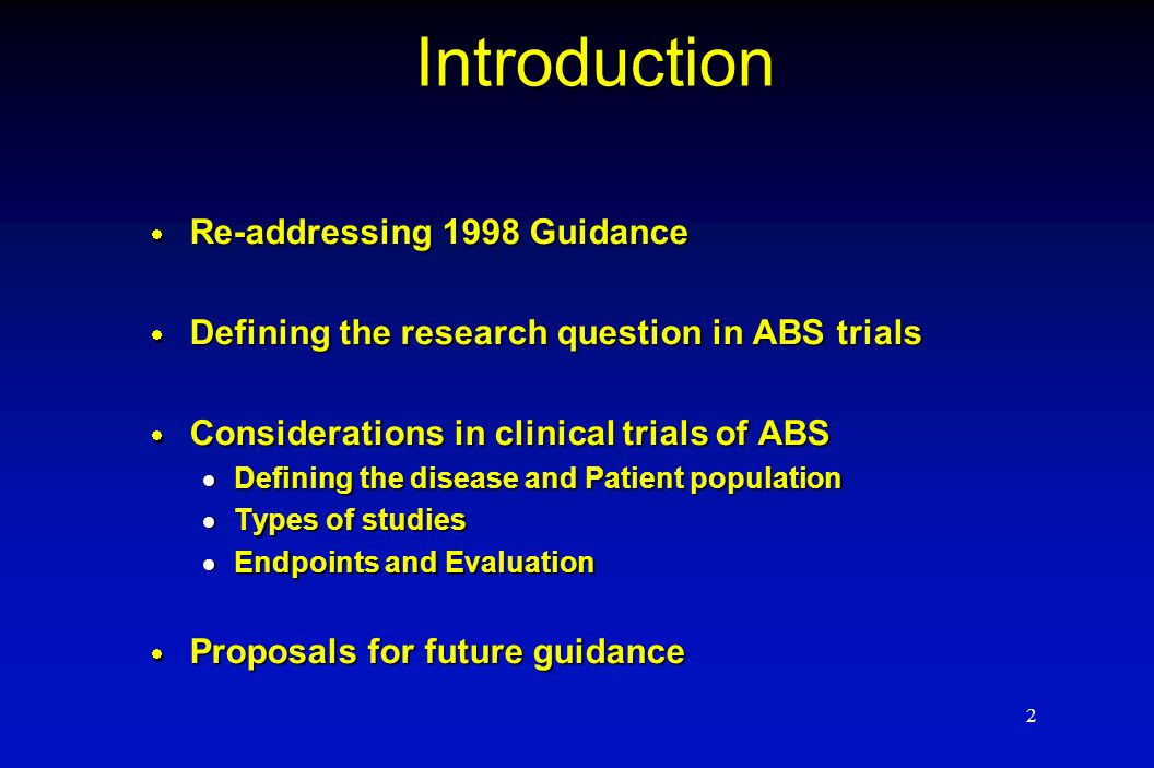 3 Re-addressing previous Guidance  Discussions at previous AIDAC and workshops and international meetings on selection of non- inferiority (NI) margins in clinical trials  February 2002  November 2002  ICH-E10 document  Lack of adequate selection of NI margin means cannot ensure adequacy of any drug over placebo in setting of NI trial  ICH-E10 suggests other study designs if NI margin unknown