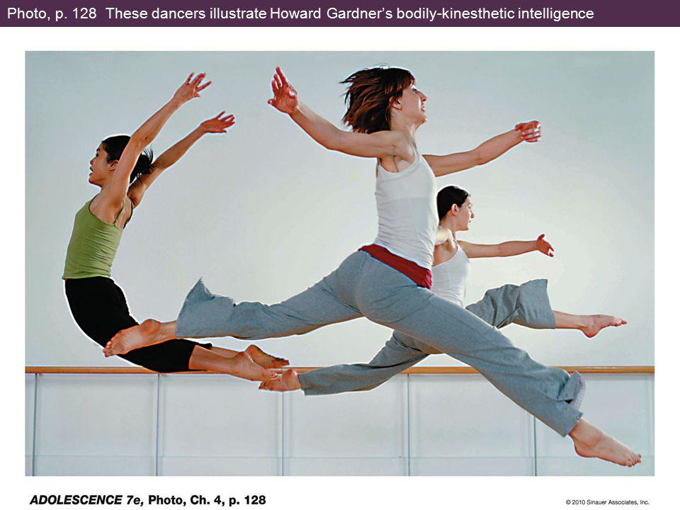 Photo, p. 128 These dancers illustrate Howard Gardner's bodily-kinesthetic intelligence