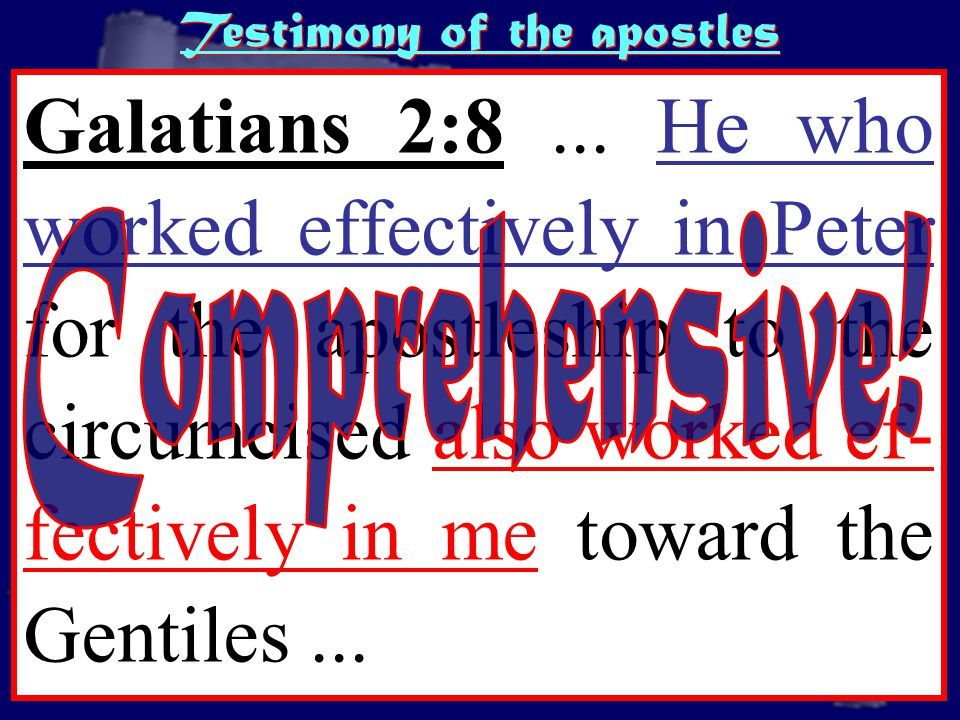 http://www.sxc.hu/pic/m/b/br/brokenarts/432896_parchment.jpg Testimony of the apostles Galatians 2:8...