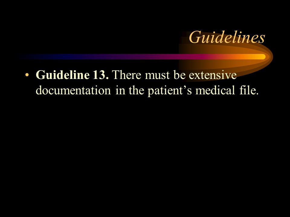 Guidelines Guideline 12.