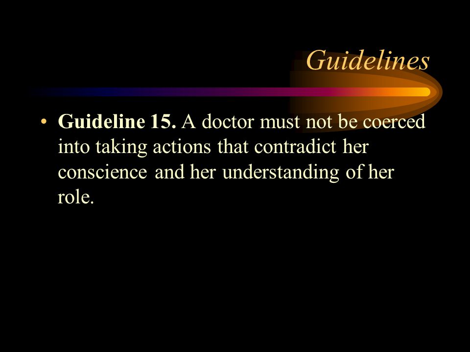 Guidelines Guideline 14.