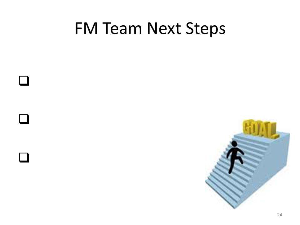 FM Team Next Steps       24